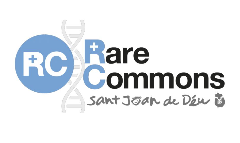 Logotip de Rare Commons, Hospital Sant Joan de Déu
