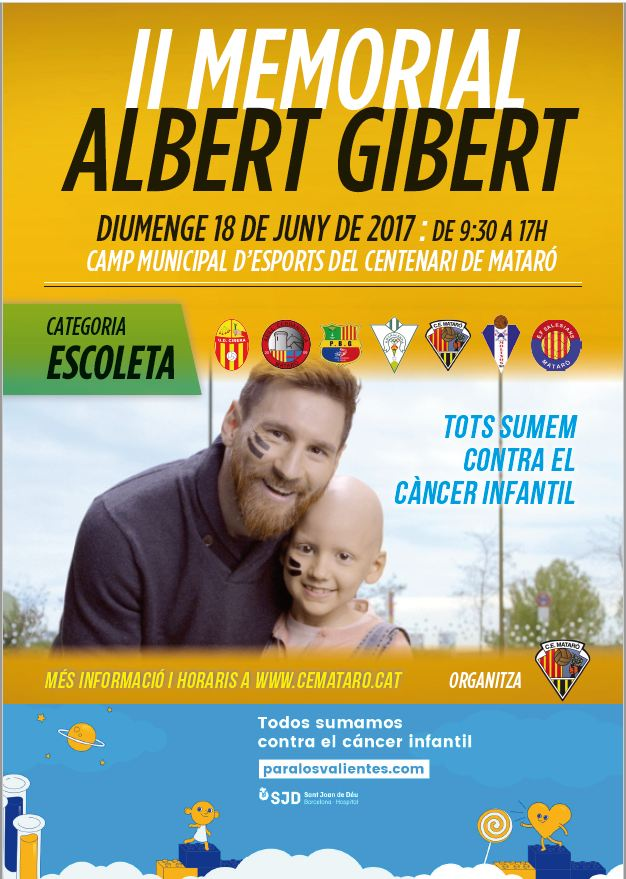 Cartel del 2º Memorial Albert Gibert