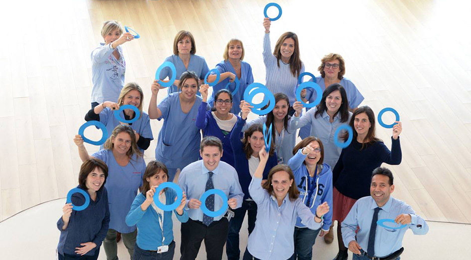 The team at the Diabetes unit celebrating World Diabetes Day