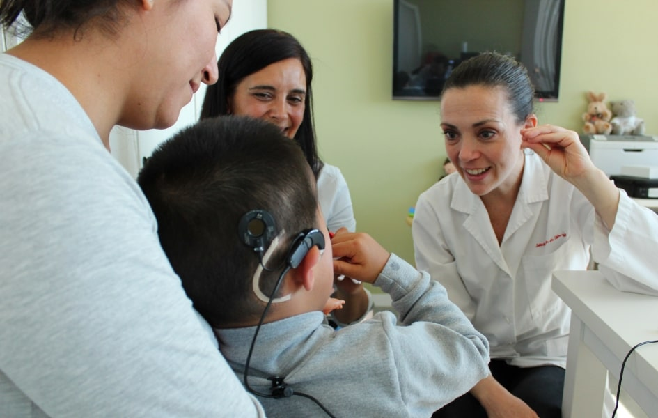Brainstem implant patient at the Sant Joan de Déu Hospital.