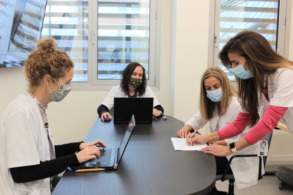 Patient Experience team meeting at SJD Barcelona Children's Hospital